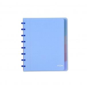 Cahier à anneaux ATOMA avec intercalaires - A5 - quadrillé 5 x 5 mm
