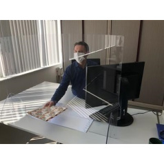 Ecran de protection en plexi à poser - 100 x 75 cm