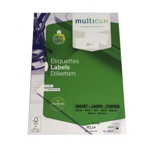 Etiquettes blanches MULTICOM