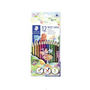Crayons de couleur triangulaires Staedtler NORIS - étui de 12