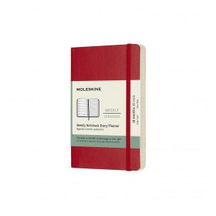 Agenda Moleskine 18 MOIS - Pocket 9 x 14 cm - 1 semaine sur 2 pages avec notes