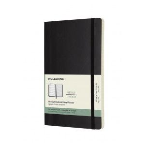 Agenda Moleskine 18 MOIS - Large 13 x 21 cm - 1 semaine sur 2 pages avec notes