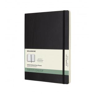 Agenda Moleskine 18 MOIS - XL 19 x 25 cm - 1 semaine sur 2 pages avec notes
