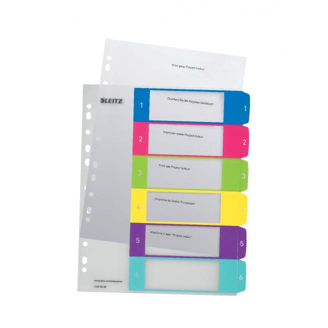 Intercalaires à onglets numériques Leitz WOW - plastique - A4 maxi