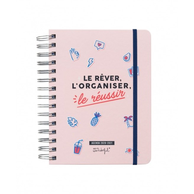 Agenda scolaire Mr Wonderful SKETCH - 14,5 x 19,5 cm - 1 jour par page