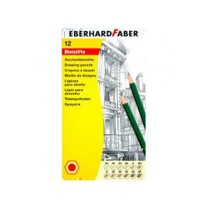Crayons graphite Eberhard Faber - de 5H à 6B - boîte de 12