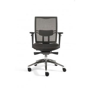 Chaise de bureau ergonomique haut de gamme - résille noire