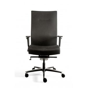 Chaise de bureau ergonomique MANAGER XL - tissu noir