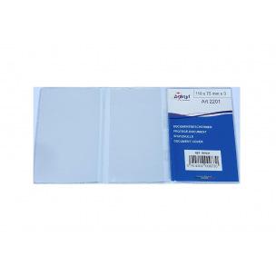 Etui protège-document en plastique transparent - triple - 110 x 75 mm - N°2201