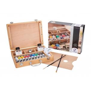 Coffret peinture à l'huile Talens VAN GOGH Basic - 10 tubes 40 ml + accessoires