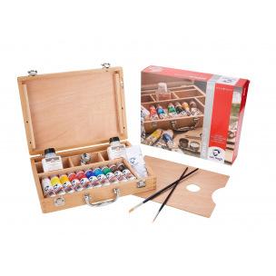 Coffret peinture acrylique Talens VAN GOGH Basic - 10 tubes 40 ml + accessoires