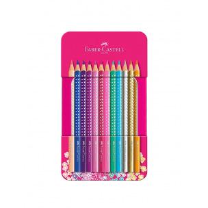 Crayons de couleur Faber-Castell SPARKLE - coffret de 20