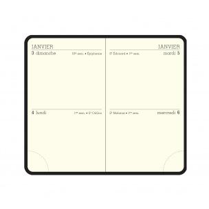 Agenda Exacompta 2 jours/page - 7,5 x 11,5 cm - 2  jours par page - recharge seule