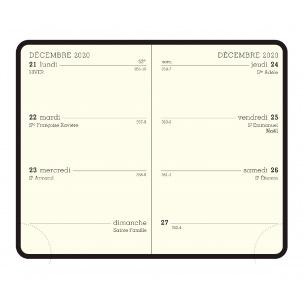 Agenda Exacompta semainier - 7,5 x 11,5 cm - 1 semaine sur 2 pages - recharge seule