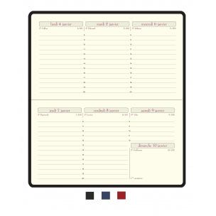 Agenda Exacompta temporel 16 - 8,5 x 16 cm - 1 semaine sur 2 pages