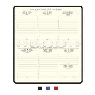 Agenda Exacompta TEMPOREL 16S - 9 x 16 cm - 1 semaine sur 2 pages