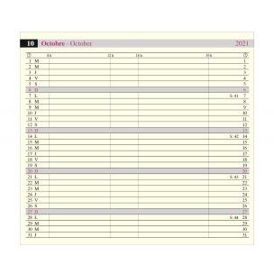 Agenda Oberthur OBERPLAN - 8 x 15 cm - 1 mois sur 2 pages