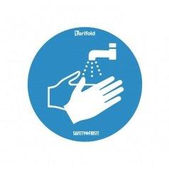 Sticker d'avertissement OBLIGATION DE SE LAVER LES MAINS