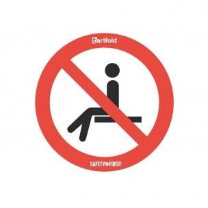 Sticker d'avertissement DEFENSE DE S'ASSEOIR