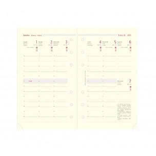 Recharge organiser Oberthur - 1 semaine sur 2 pages - grille verticale
