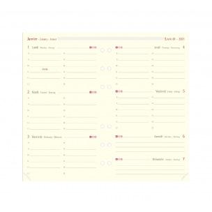 Recharge organiser Oberthur - 1 semaine sur 2 pages - grille horizontale
