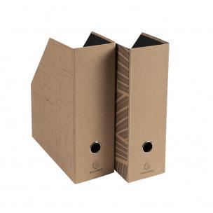 Lot de 2 porte-revues Exacompta ETERNECO en carton - dos 10 cm