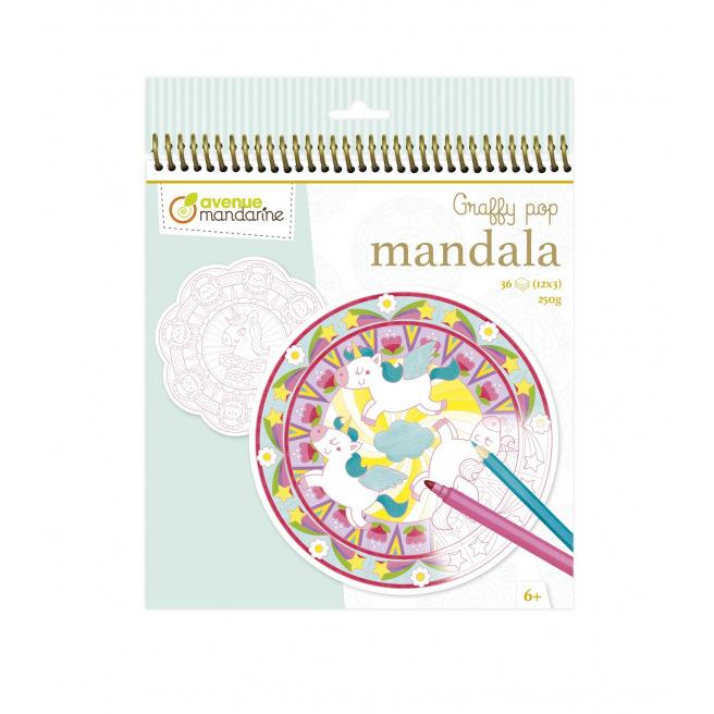 Carnet de coloriage Avenue Mandarine GRAFFY POP MANDALA