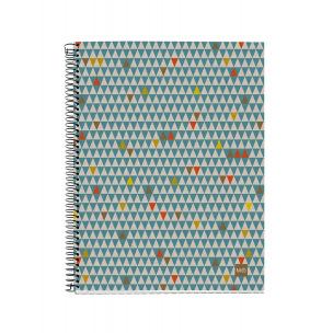 Cahier à spirales MIQUELRIUS 100% RECYCLÉ - quadrillé 5 x 5 mm