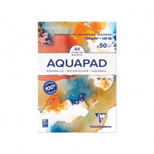 Bloc de papier aquarelle Clairefontaine GOLDLINE AQUAPAD 300 g