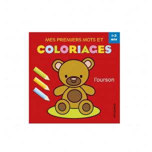 Livre à colorier mes premiers mots et coloriages - 1 à 3 ans