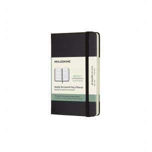 Agenda Moleskine 18 MOIS - Pocket 9 x 14 cm - 1 semaine sur 2 pages