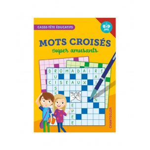Bloc de jeux de mots croisés amusants pour enfants