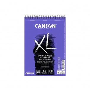 Bloc spiralé de papier CANSON XL MIX MEDIA 300 g