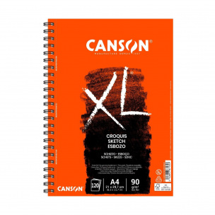 Bloc spiralé de papier CANSON XL CROQUIS 90 g