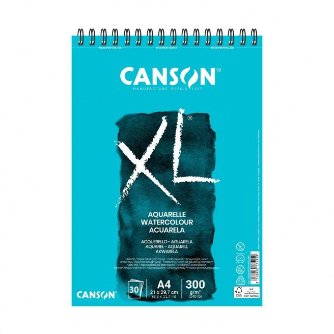 Bloc spiralé de papier CANSON XL AQUARELLE 300 g