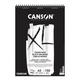 Bloc spiralé de papier CANSON XL DESSIN NOIR 150 g