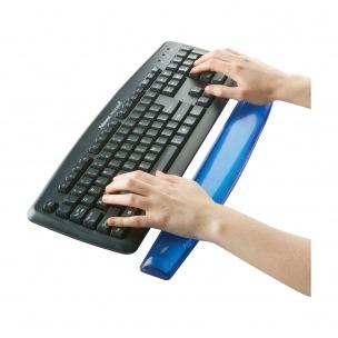 Repose-poignet clavier ergonomique Fellowes CRYSTAL GEL