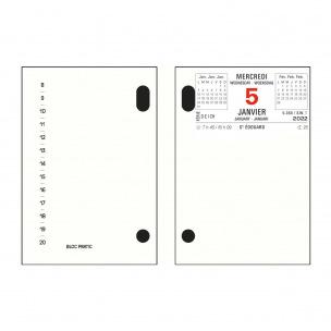 Calendrier bloc mémo Exacompta - 8,2 x 12 cm - 1 jour par page