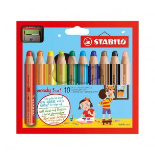 Crayons de couleur Stabilo WOODY 3 en 1
