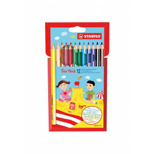 Crayons de couleur triangulaires Stabilo TRIO THICK