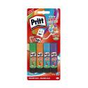 Pack de 4 bâtons de colle colorée PRITT RAINBOW