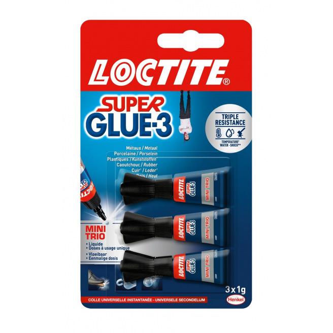 Colle instantanée LOCTITE Super Glue-3 MINI TRIO 3 x 1 g