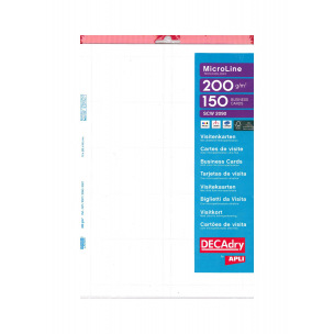Cartes de visite DECADRY MicroLine Technology - 85 x 54 mm