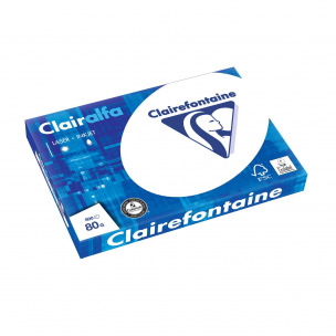 Papier blanc CLAIREFONTAINE CLAIRALFA
