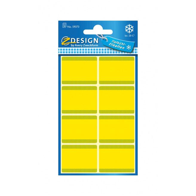 Etiquettes de congélation jaunes AVERY ZWECKFORM - 36 x 28 mm (8 étiq.)