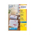 Etiquettes blanches AVERY pour imprimantes jet d'encre