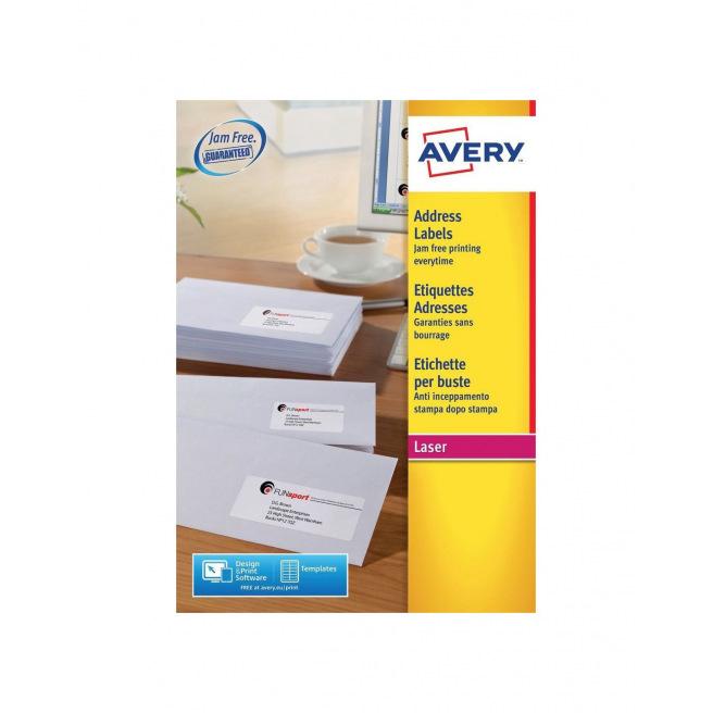 Etiquettes blanches AVERY pour imprimantes laser