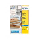 Etiquettes transparentes AVERY pour imprimantes jet d'encre - 210 x 297 mm - 1 étiquette/feuille A4 - paquet de 25 feuilles A4