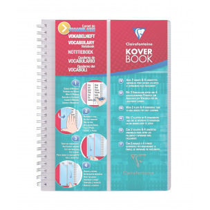 Carnet de vocabulaire CLAIREFONTAINE KOVER BOOK A5
