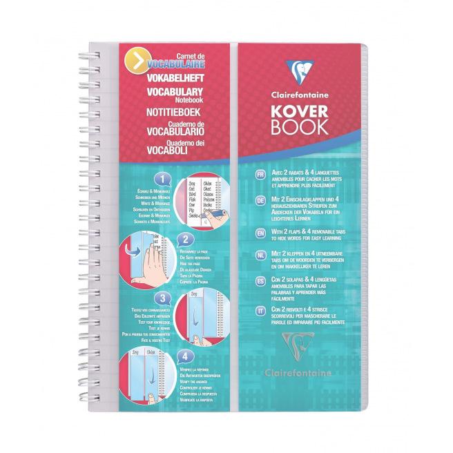 Carnet de vocabulaire CLAIREFONTAINE KOVER BOOK A5